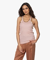 Zadig & Voltaire Ander Tank Top with Coating - Crepuscule