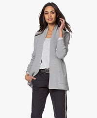 Belluna Tansania Short Open Cardigan - Grey Melange