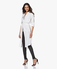 by-bar Jonna Viscose Crêpe Jurk - Off-white