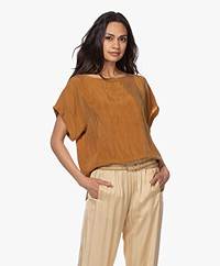 Drykorn Somia Cupro Blouse - Brown