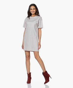 Filippa K Maddie Katoenen Jersey T-shirt Jurk - Sterling Grey