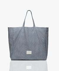 Closed Nika Katoenen Shopper - Blauw/Off-white