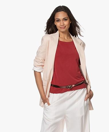 Drykorn Gadsden Cotton/Linen Blazer - Powder Pink