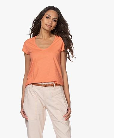 Drykorn Avivi Slub Jersey T-shirt - Peach