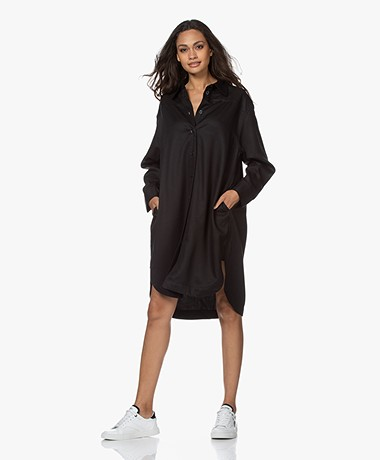 Filippa K Viv Lyocell Shirt Dress - Black