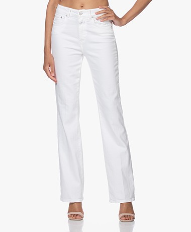 Closed Leaf Flared Stretch Jeans - Wit