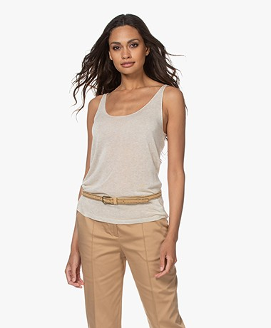 indi & cold Fine Knitted Tank Top - Tapioca