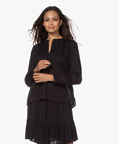 by-bar Lois Cotton Blouse - Black