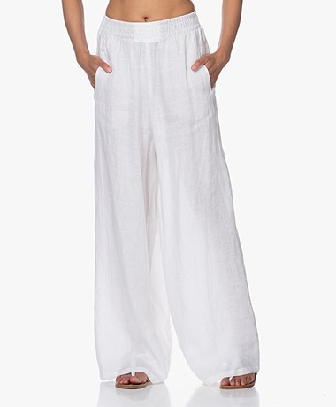 Drykorn Windy Loose-fit Linen Pants -  White