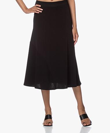 By Malene Birger Cypress Crepe Jersey A-line Skirt - Black