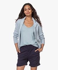 Belluna Matin Knitted Blazer Cardigan - Light Blue