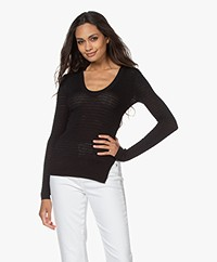 By Malene Birger Bonamia Textured Fine Knit Sweater - Black