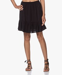 by-bar Charlie Viscose Crepe Ruffle Skirt - Black