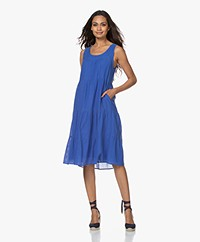 indi & cold Voile Tiered Dress - Cobalt