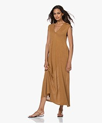 indi & cold Fine Knit Maxi Dress - Canela