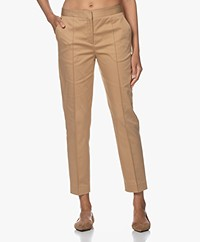 By Malene Birger Santsi Stretch Katoenen Pantalon - Tannin