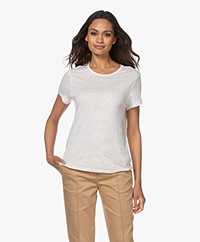 Filippa K Hazel Linnen T-shirt - Faded Pink