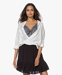 ba&sh Twister Katoenen Blouse - Off-white