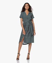 indi & cold Viscose Shirt Dress with Print - Sage