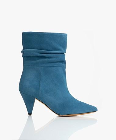 IRO Theke Suède Enkellaarzen - Blue Vintage