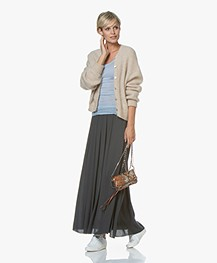 BY-BAR Linde Crepe Maxi Skirt - Vintage Green
