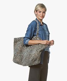 Ragdoll LA Holiday Leopard Canvas Bag - Blue