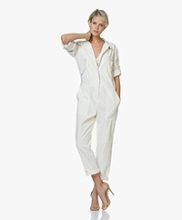 Rag & Bone Morris Cotton Jumpsuit - Ivory