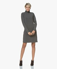 Majestic Filatures Sweater Dress with Turtleneck - Flanelle