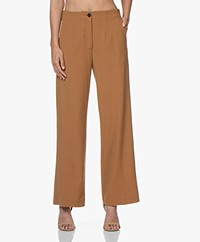 Pomandère Wool Blend Crepe Pants - Camel