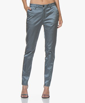 Closed Jack Satijnen Pantalon - Polar Blue