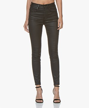 Drykorn Wet Coated Skinny Jeans - Black