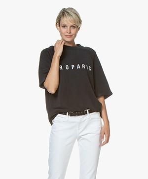 IRO Courtny Flock Print Sweatshirt - Used Black
