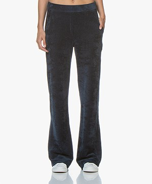 Majestic Filatures Jersey Velvet Rib Pants with Cashmere - Bleu Nuit