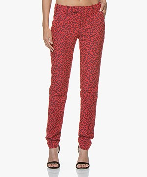 Zadig & Voltaire Prune Jacquard Pants with Leopard Dessin - Passion