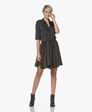 Zadig & Voltaire Ranili Japanese Satin Dress - Black