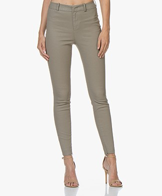 Drykorn Winch Skinny Coated Pants - Taupe