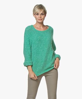 American Vintage Woxilen Oversized Sweater - Mint Diabolo
