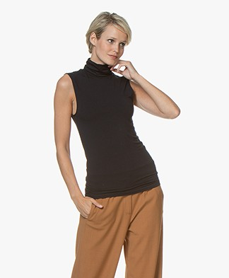 Majestic Filatures Soft Touch Jersey Turtleneck Top - Marine