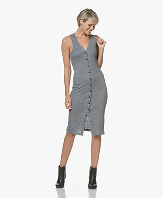 Rag & Bone Mac Midi Tank Dress - Heather Grey