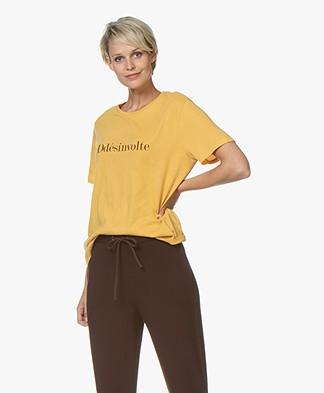 Vanessa Bruno Katoenen Ddésinvolte T-shirt - Amber