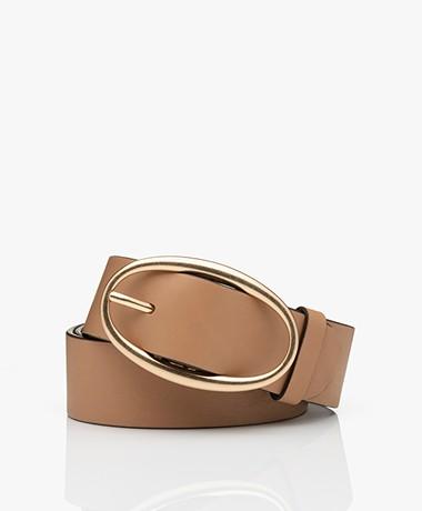Vanessa Bruno Leather Belt - Beige