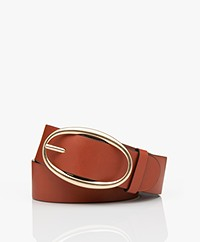 Vanessa Bruno Leather Belt - Terracotta