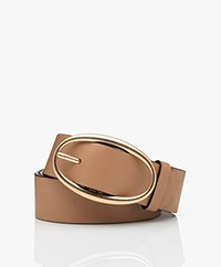 Vanessa Bruno Leather Belt - Beige