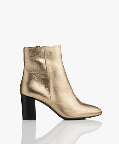 Filippa K Miranda High Bootie - Crinkled Gold