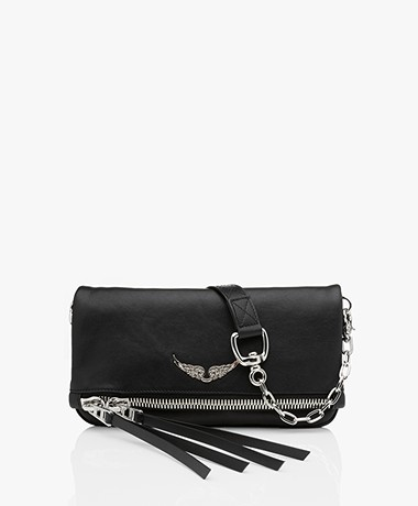 Zadig & Voltaire Rock Zip Shoulder Bag/Clutch - Noir