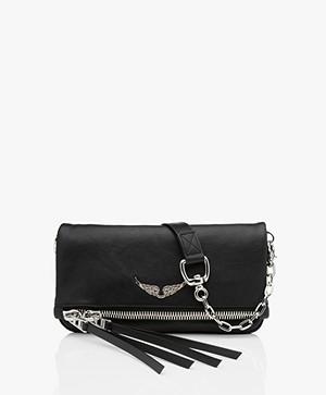 Zadig & Voltaire Rock Zip Shoulder Bag/Clutch - Noir