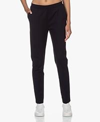LaSalle Ponte Jersey Slim-fit Broek - Navy