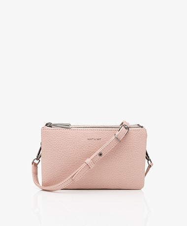 Matt & Nat Triplet Dwell Cross-Body Bag - Pebble