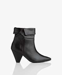 MKT Studio Nalia Leather Ankle Boots - Black