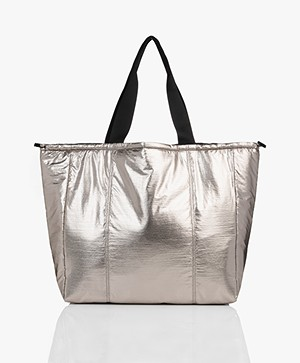 Filippa K Soft Sport Metallic Shopper - Nickel